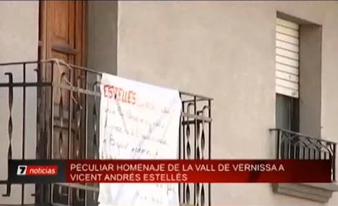 Peculiar homenatge de la vall de Vernissa a Vicent Andrés Estellés
